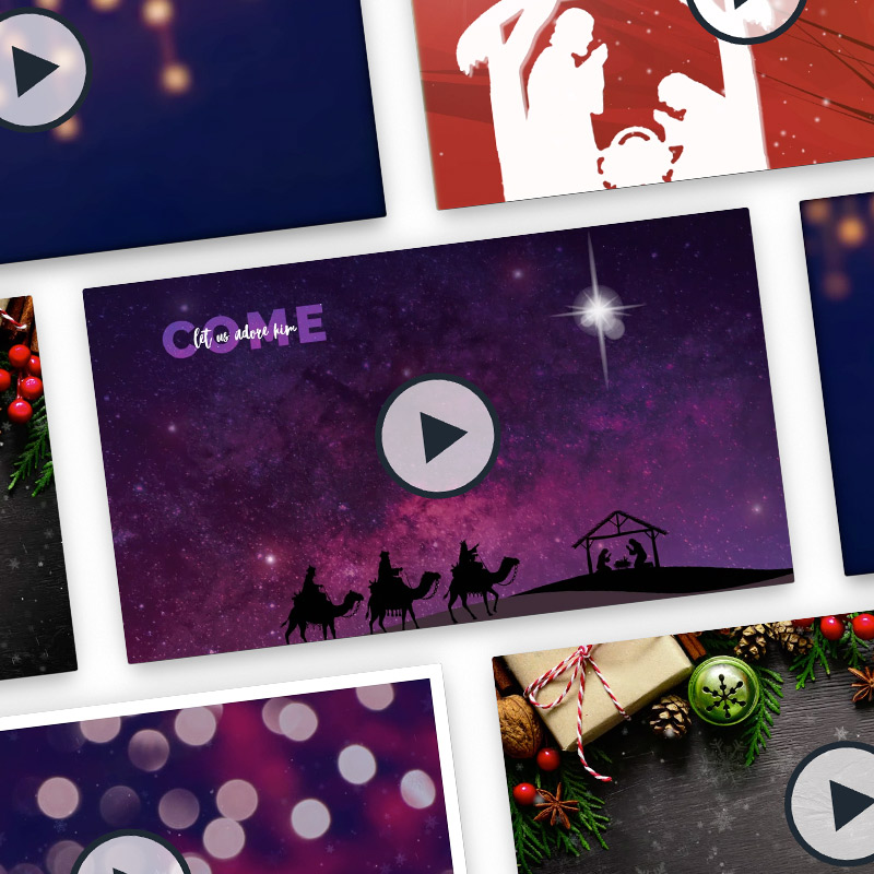 christmas motion backgrounds bundle church leaders store